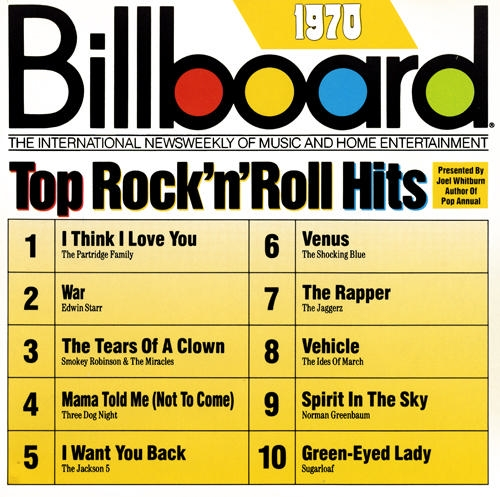 Billboard Top Ten Rock 'n Roll Hits of 1970
